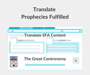 Illustration - Translate Prophecies Fulfilled - The Great Controversy - text - beckground