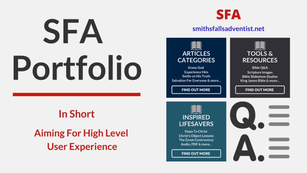 Illustration - background - title - SFA Portfolio - text