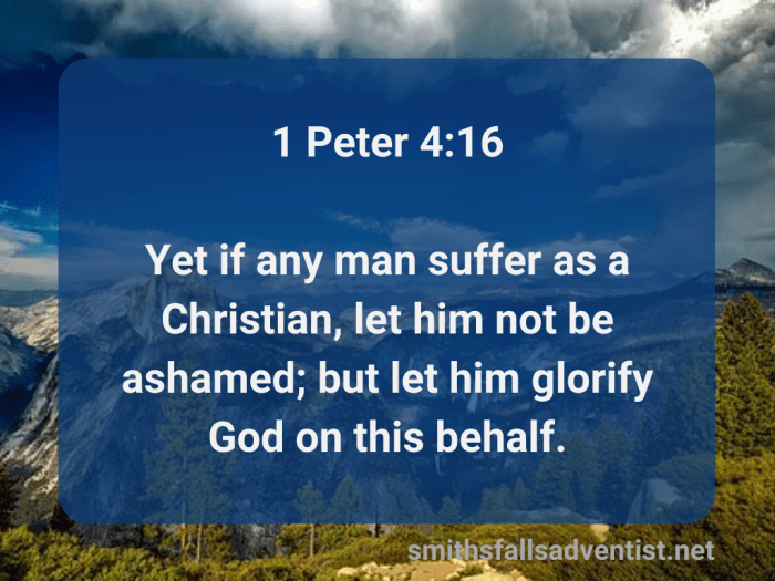 Illustration-background-tick dark clouds above mountain top-title-Let him glorify God in 1 Peter verse 16-text-Bible verse