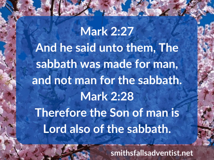 Illustration-background-cherry trees-title-Sabbath was made for man in Mark 2 verse 27-text-Bible verse