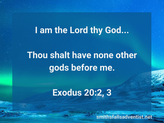Illustration-background-starry sky at night-title-I am the Lord thy God in Exodus 20 verses 2 and 3-Bible text