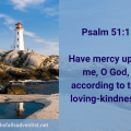 Illustration-landscape-see shore lighthouse-title-Have mercy upon- text-Bible verse