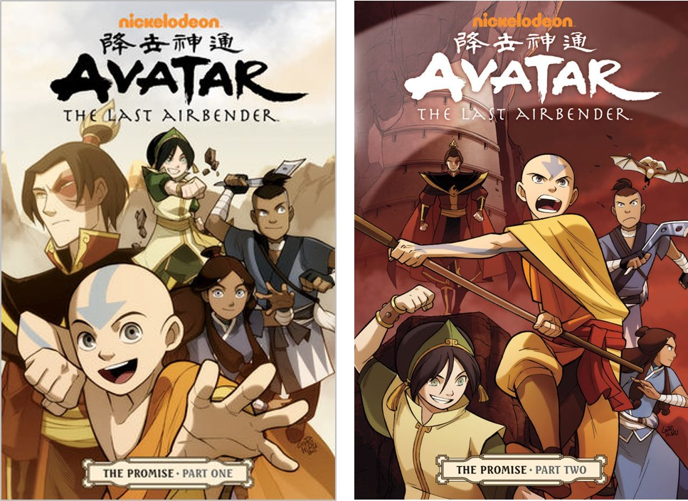Avatar The Last Airbender The Promise Parts One And Two Created