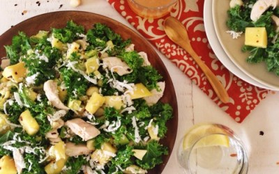 Chicken Kale and Coconut Salad
