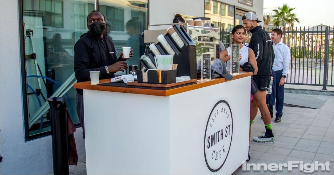 Smith Street coffee cart with Moses