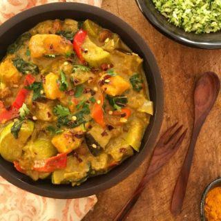 Vegetable Curry with Broccoli Rice