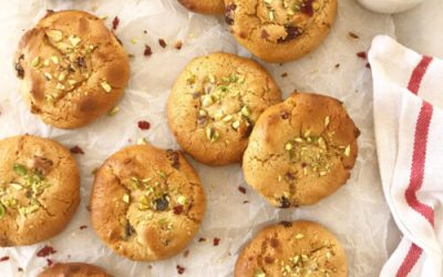 Cranberry and Pistachio Cookies