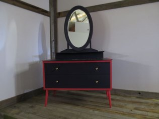 Vintage dressing table repainted with decoupage top £85