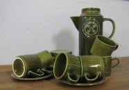 Coffee set Inc. sugar bowl, made in England by Agincourt, Jon Anton ironstone £20