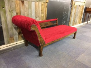 Vintage chaise lounge the upholstery cost £230 - for sale £325