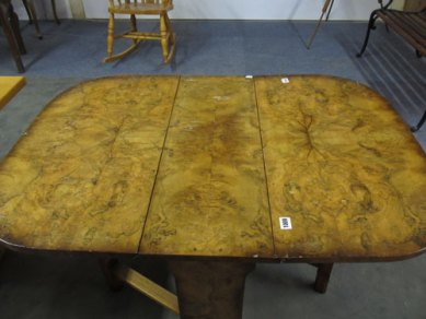 Burr walnut drop leaf table £145