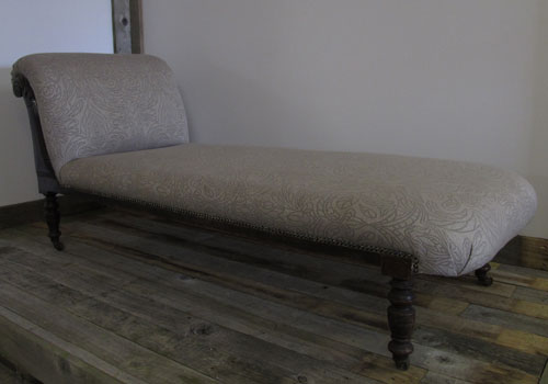 Beautiful vintage chaise lounge the upholstery cost £230 - for sale £325