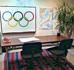 オリンピックの話題で盛り上がるスミス英会話桂校