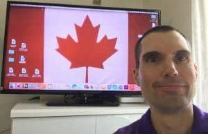 カナダに行くために