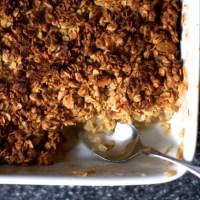 breakfast apple granola crisp