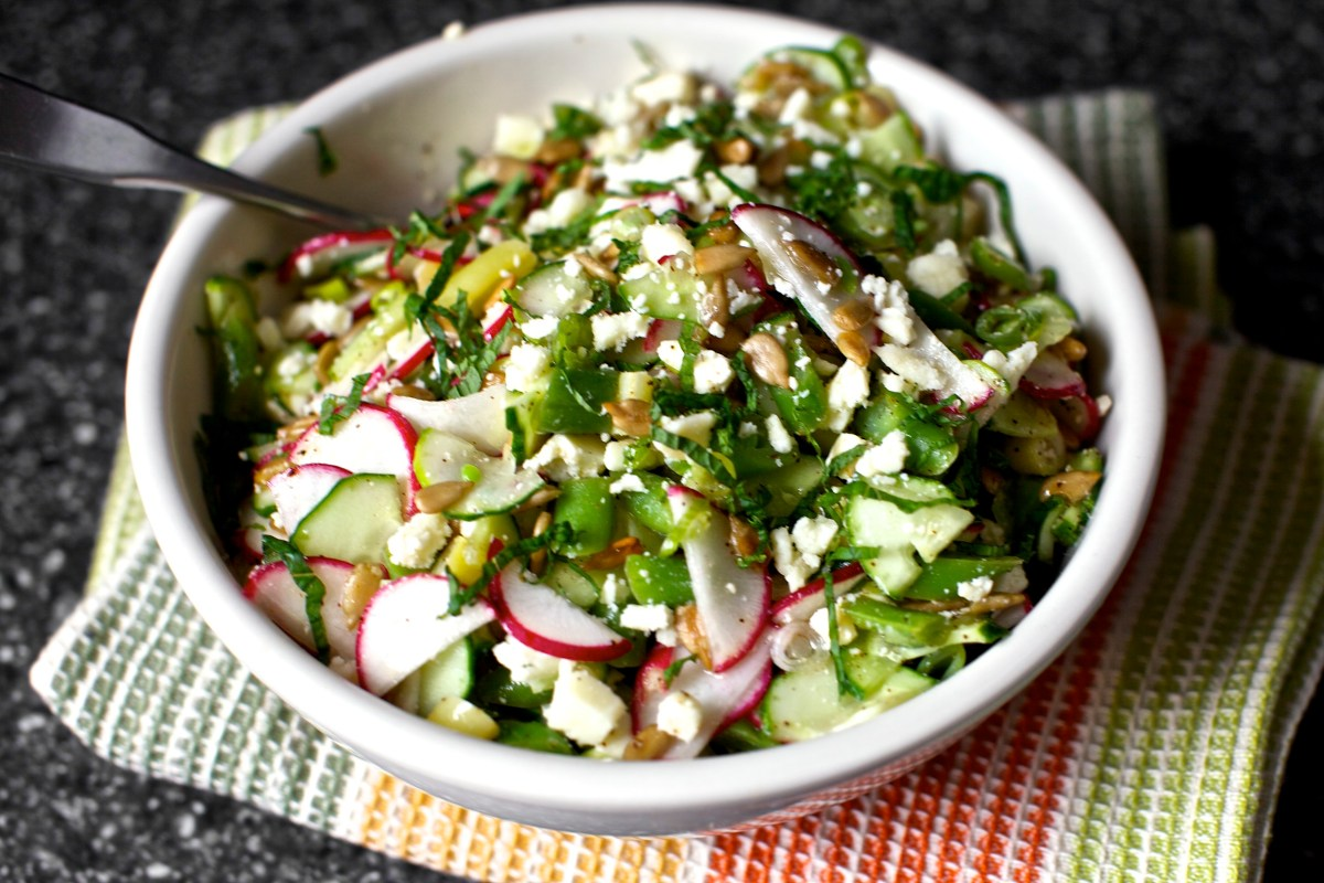 chopped salad with feta, lime and mint – smitten kitchen