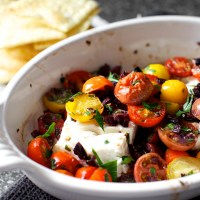 mediterranean baked feta with tomatoes