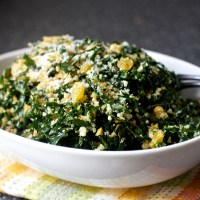 kale salad with pecorino and walnuts