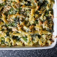 baked pasta with broccoli rabe and sausage
