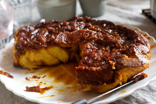 Morning Bread Pudding With Salted Caramel Smitten Kitchen