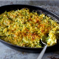 zucchini rice and cheese gratin