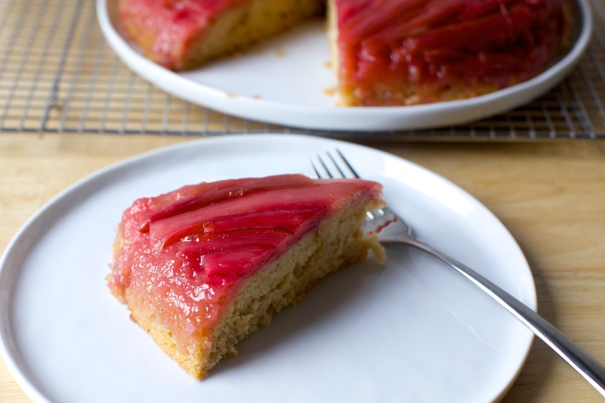Rhubarb Upside Down Spice Cake Smitten Kitchen