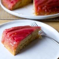 rhubarb upside-down spice cake