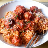perfect meatballs and spaghetti