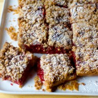 raspberry crumble tart bars