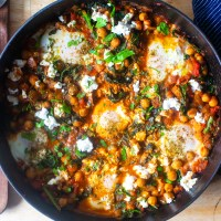 chickpea and kale shakshuka