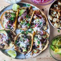 simple cauliflower tacos