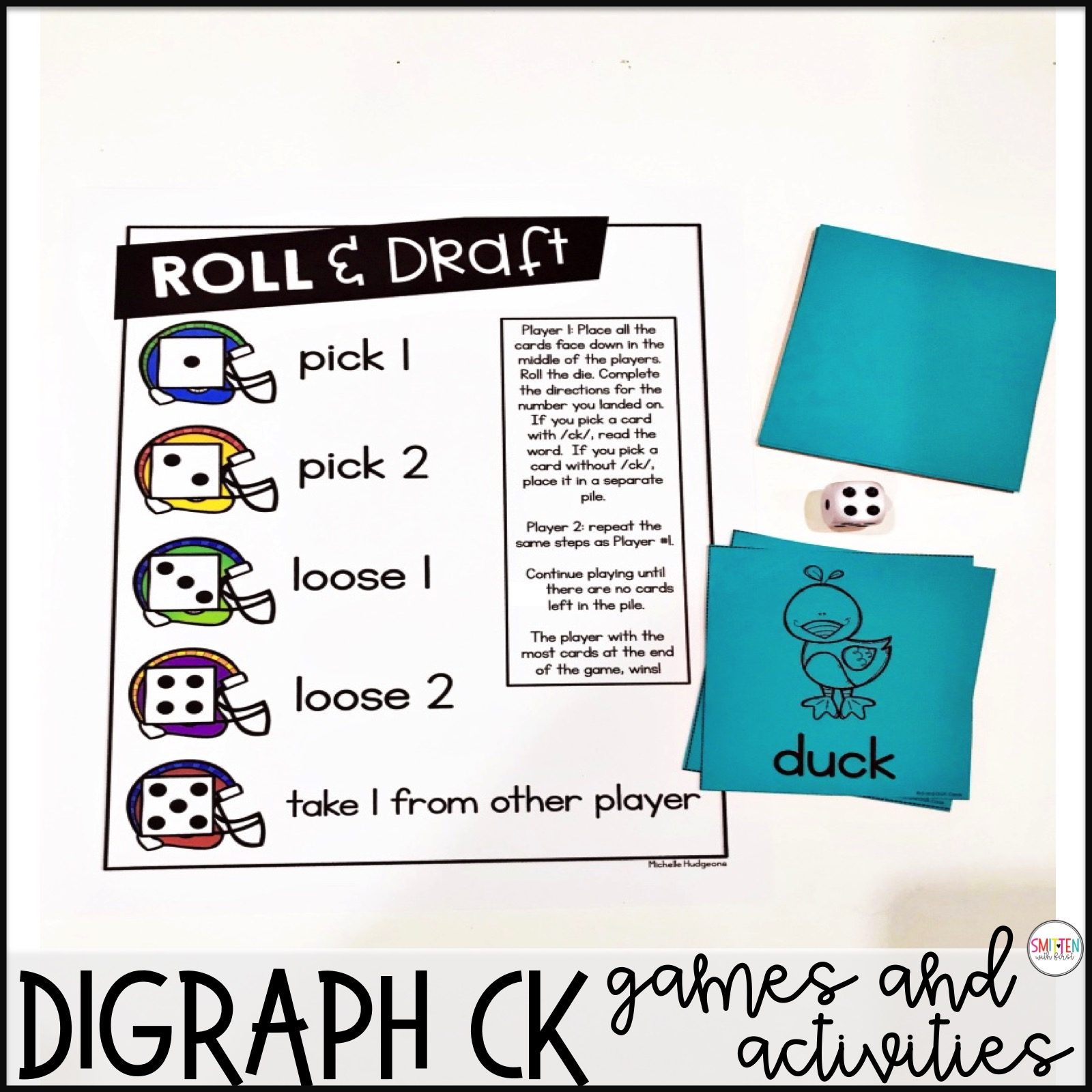 Digraph Ck Phonics Games And Activities