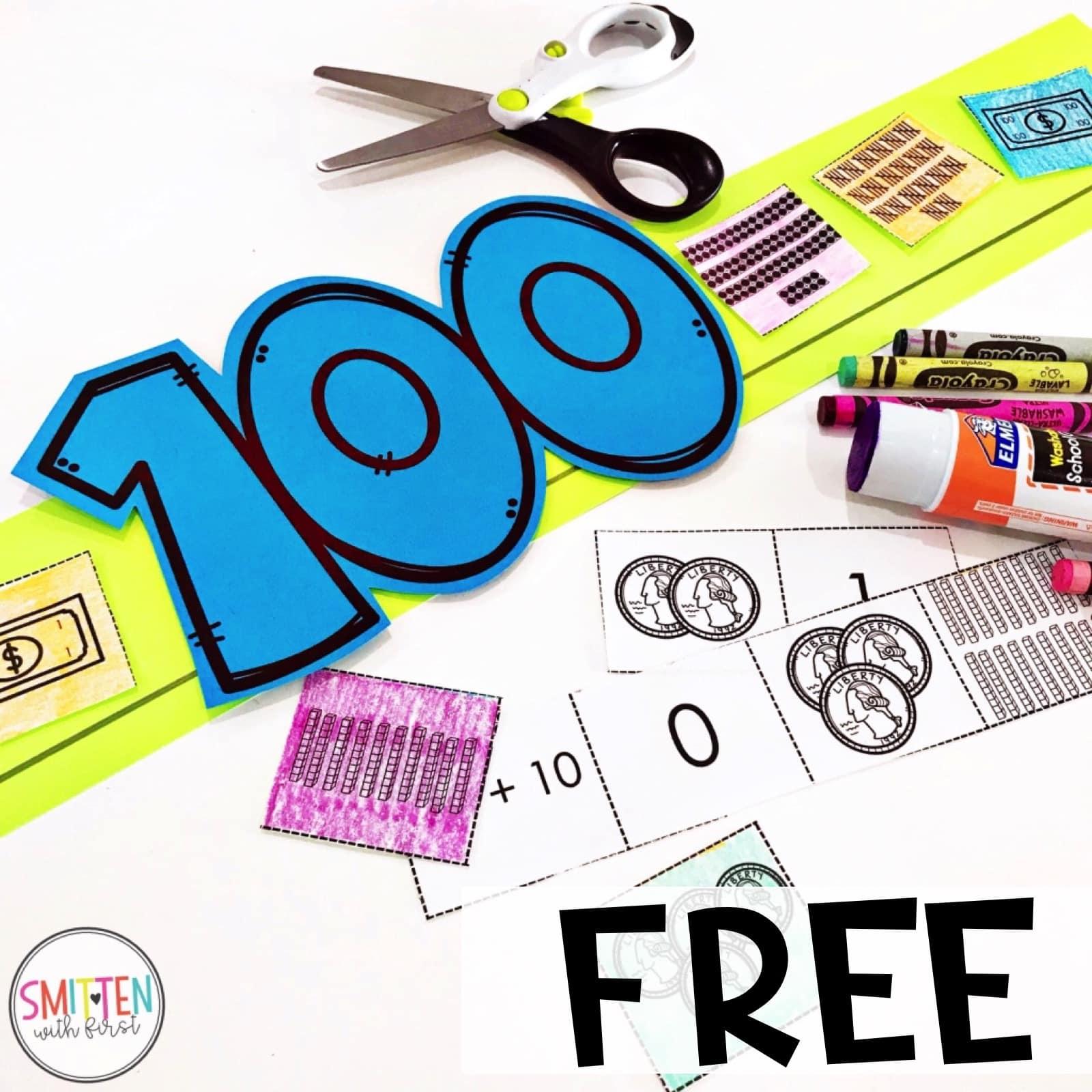 100th Day Of School Free Activities Preschool Prek