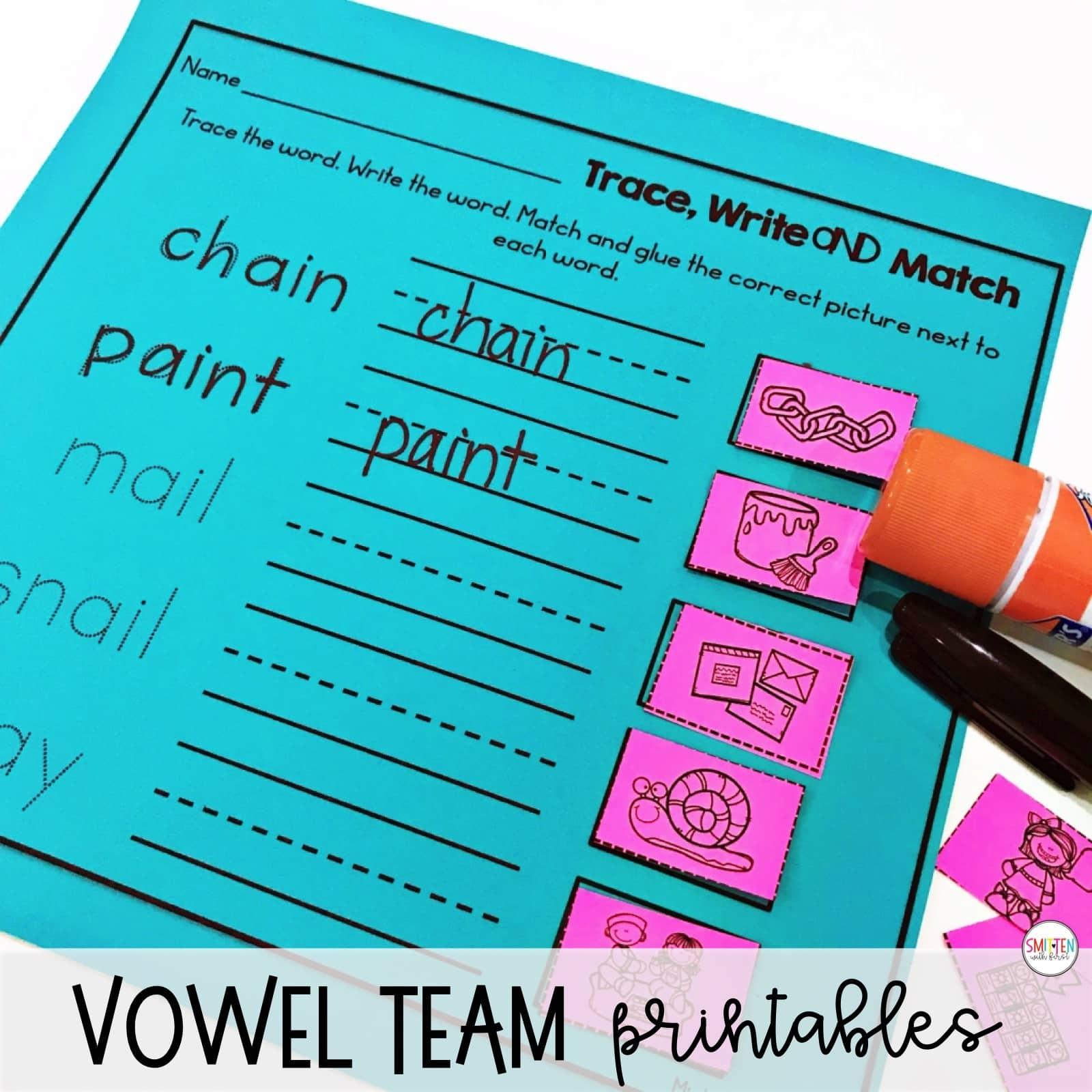 Long A Vowel Teams Pairs I Ay Phonics Activities And Games