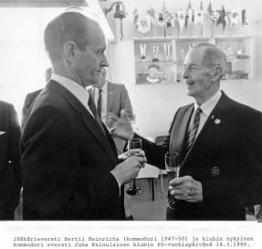 Bertil Heinrichs ja Juha Kainulainen Pajalahdessa 14.3.1990 (SMK)