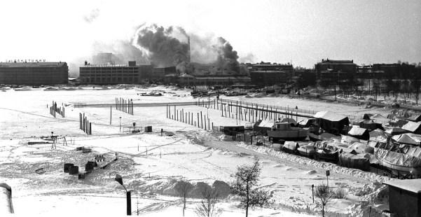 Pajalahti Konelan tulipalo 1970-luku (BW SMK)