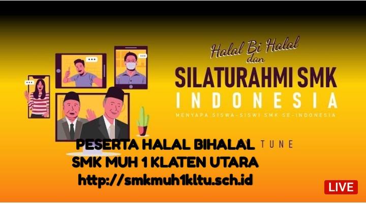 Halal bihalal melalui channel YouTube