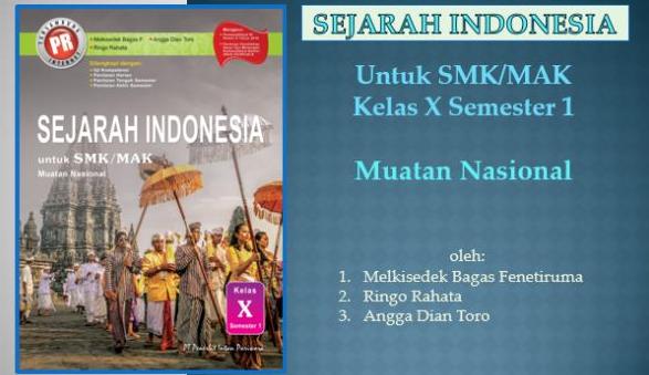 SEJARAH INDONESIA SMK KELAS X