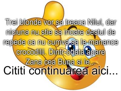 Bancul zilei :) Trei blonde la Nil…