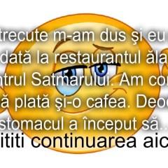 Bancul zilei :) La restaurantul de fite din Satu Mare…