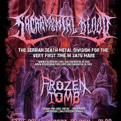 Cel mai mare eveniment ROCK al primei jumatati de an la Satu Mare! Concert Sacramental Blood si Frozen Tomb