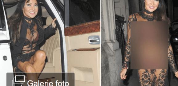 Noua modă sau vulgaritate?! Cum a venit îmbrăcată această brunetă la o petrecere