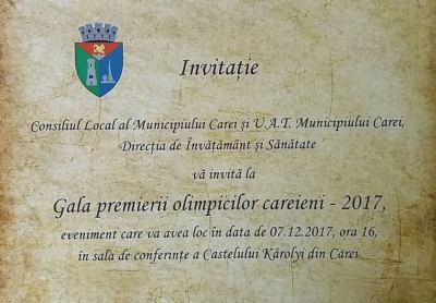 Primaria Municipiului Carei va premia elevii careieni care au obtinut rezultate deosebite la olimpiadele si concursurile nationale