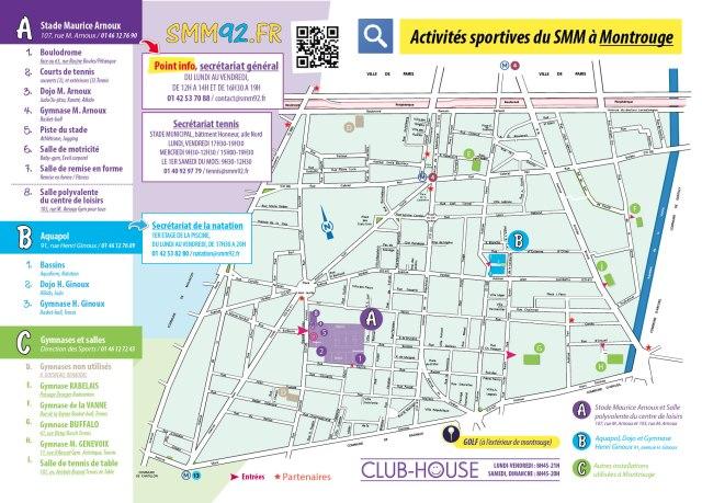 Où pratiquer les activités sportives du SMM à Montrouge ?