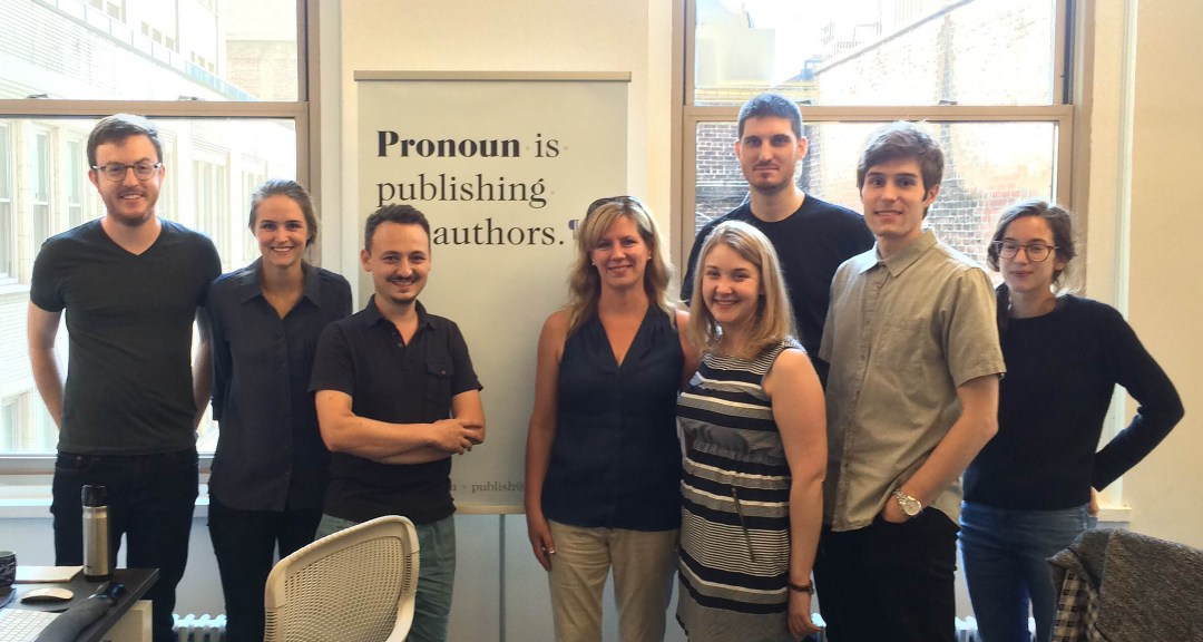 S.M. McEachern with the Pronoun Team, NYC, July 2015