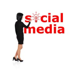 woman drawing social media