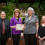 Holly A. Basso receiving her Social Media Management Certificate