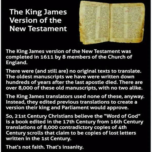 """""""...and then the uneducated bozos at WT HQ made their NWT version from the King James version and called it """"the most accurate translation""""!"""