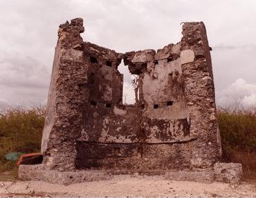 Watchtower in ruins.