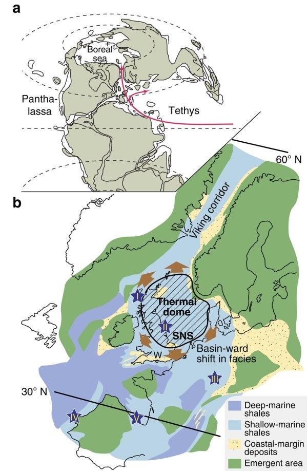 Strömungsverhältnisse im Tethys-Meer